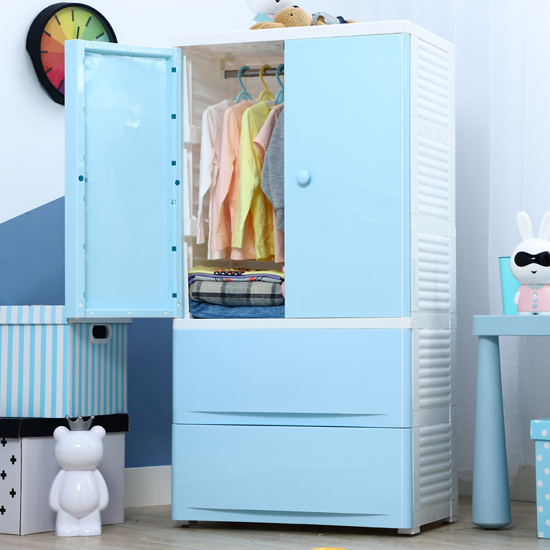 Usd 14789 Childrens Wardrobe Double Door Storage Cabinet Drawer