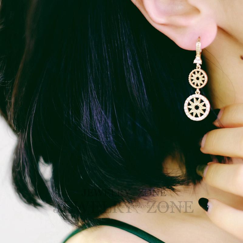 Marchesa保真纪念款 品牌经典LOGO 吊坠耳环