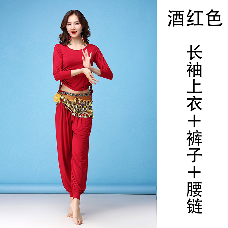 LANTERN PANTS + LONG SLEEVE (WINE RED) SET OF 3