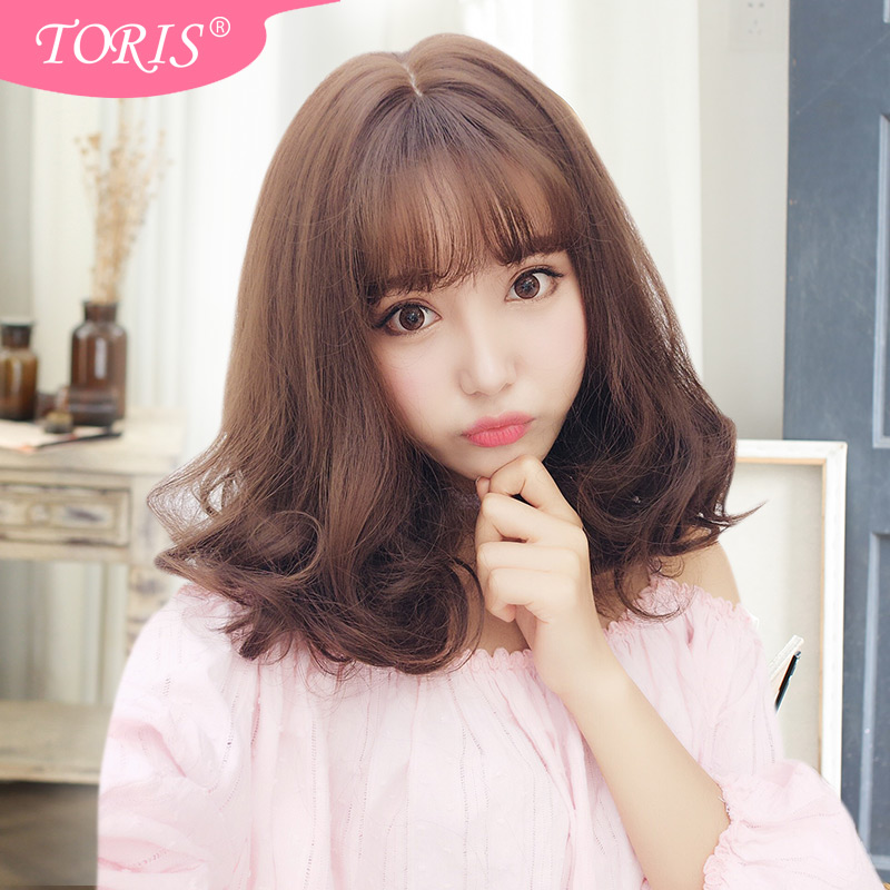 Short Hair With Bangs Korean Style Cheap Frills Jewellery