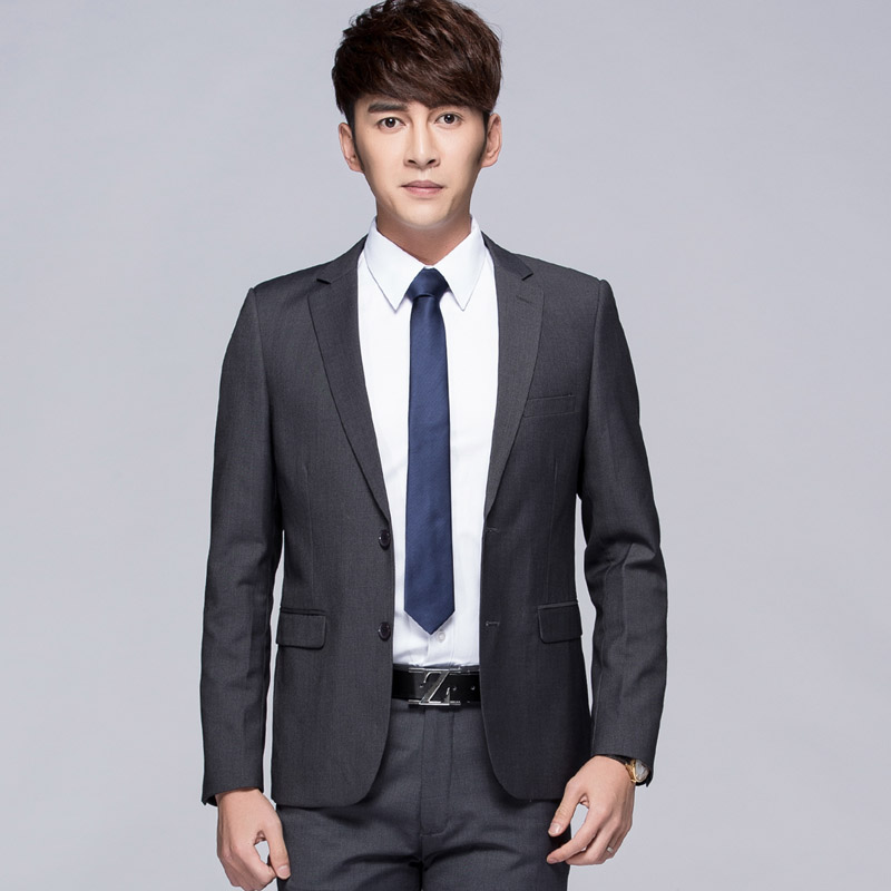 Two Buckle Gray Suit + Trousers + Shirt