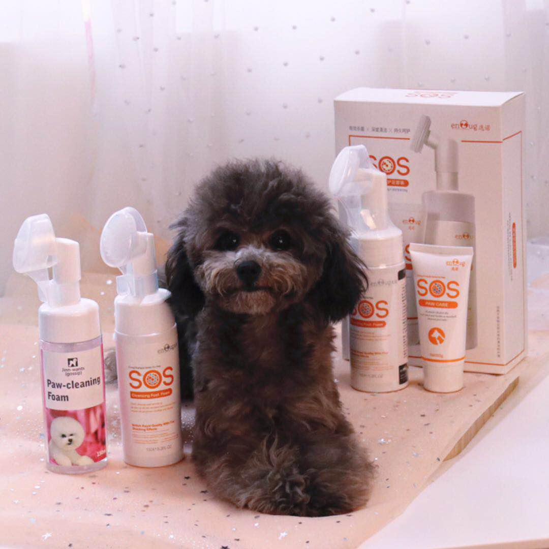 JINN-WANTSSOS pet feet clean foot foam cat dog feet care cleaning local  cleaning bath