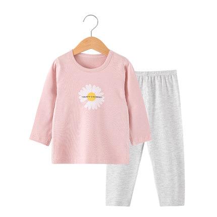 【anboa安宝儿旗舰店】安宝儿 儿童纯棉男女秋衣加厚睡衣套装