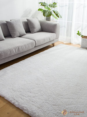 Modern style Japanese carpet living room bedroom Nordic ins gray plush coffee table pad solid color washable and easy to care