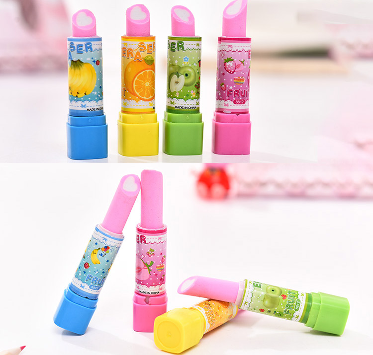 25c73c854 Lipstick shape eraser cute Mickey Mouse Hello Kitty creative stationery  school supplies pupils prizes