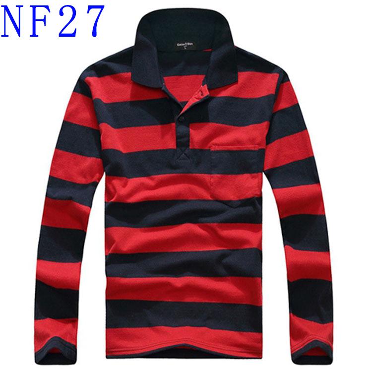 Người đàn ông mới của mỏng ve áo dài tay t-shirt cotton giản dị cộng với phân bón XL trung niên sọc dài tay người đàn ông áo phông unisex
