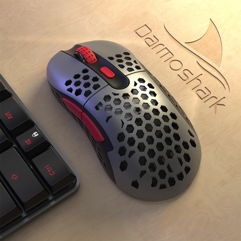 Shao Leopard Darmoshark N1 Lightweight Cave Wireless Mouse Game Special Wired Mechanical Emotional Macro Drive Programming Chicken CSGO CF Warcraft Star FPS Code LOL