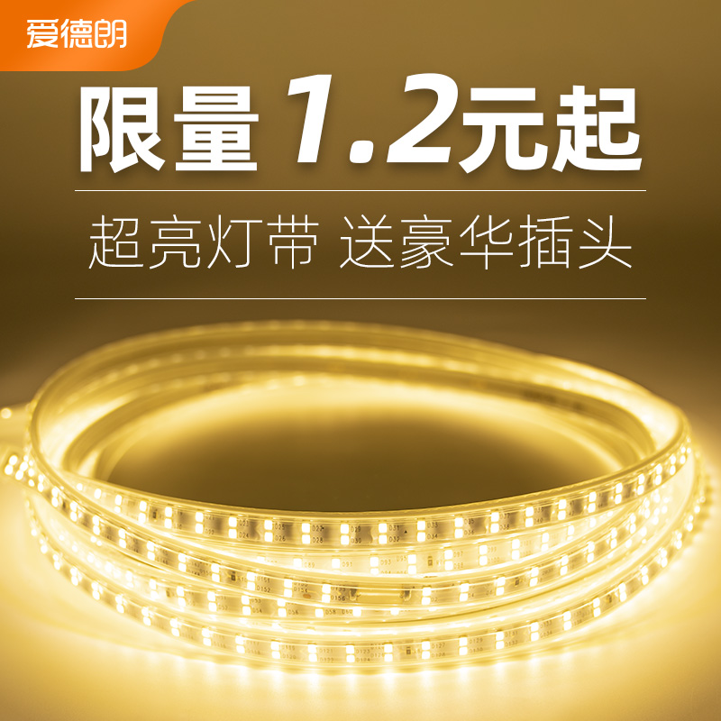 Aidelang lamp with led three color living room color Home super bright light strip 220v light strip waterproof Line light strip
