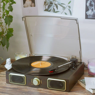 Hot sale LP vinyl record player old-fashioned phonograph retro living room European-style vinyl turntable electro-mechanical phonograph modern
