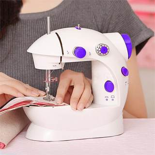 Small sewing machine multifunctional automatic manual with light simple handheld mini desktop portable household eating thick