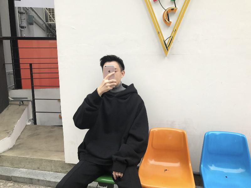 Ông Fang inch 18 mùa xuân và mùa đông chàng trai Hàn Quốc phiên bản của áo len dày màu rắn lỏng OVERSZIE nhung hoodie áo len áo