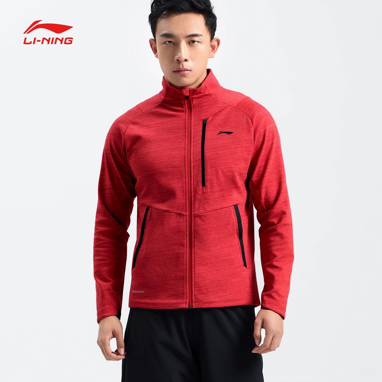 Li Ning áo len nam mới đào tạo áo khoác dài tay đứng cổ áo thể thao nam AWDN359 - Thể thao lông cừu / jumper