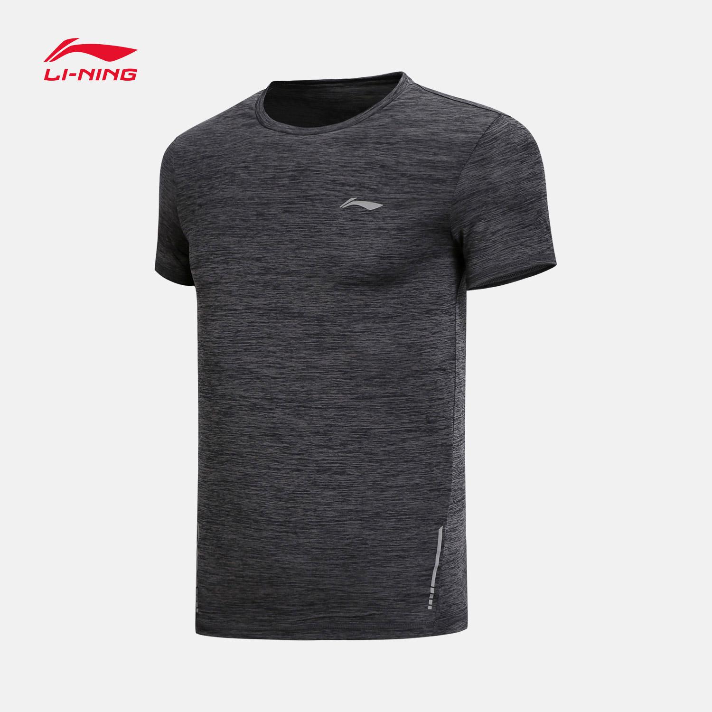 Спортивная футболка Ли нин короткие-рукавами T-рубашка мужская 2018 новый запуск серии экипажа шеи Slim Fit топы лето одежда atsn211