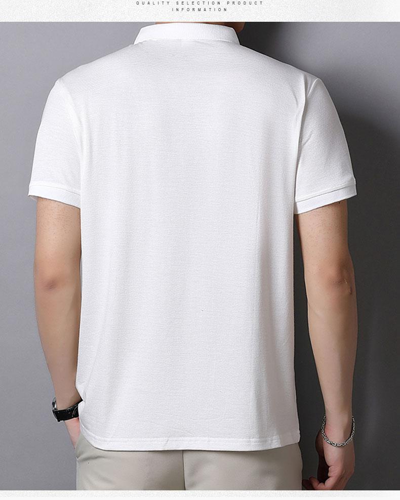 2020夏季男装潮流短袖T恤休闲百搭商务刺绣印花翻领男士POLO衫