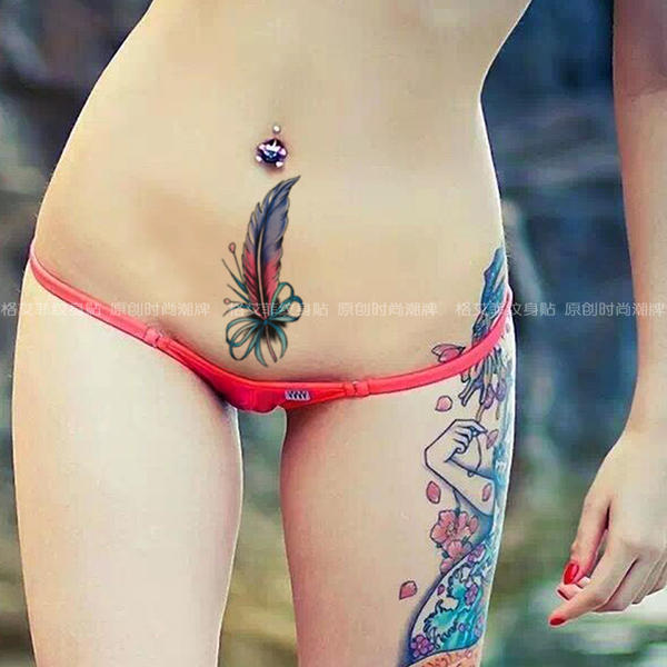 Sexy feather tattoo