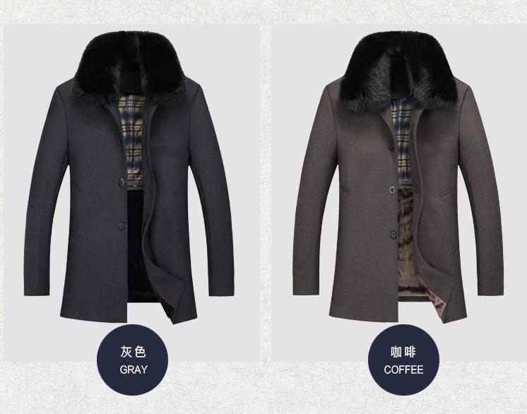 Mùa thu và mùa đông trung niên của người đàn ông áo len kích thước lớn ve áo cha áo len trung niên dày len áo gió