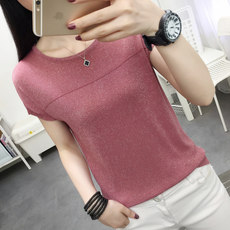 Knitted short-sleeve...