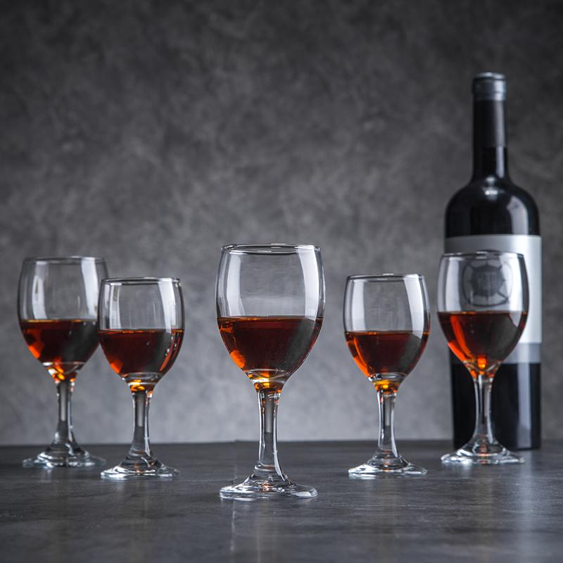 红酒杯大小号加厚无铅洋酒杯水晶葡萄酒杯玻璃欧式高脚杯家用套装