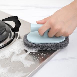 【3个装】厨房清洁神器带柄海绵擦加厚