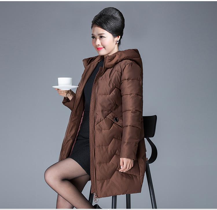 高仿蒙口Moncler老年棉衣女中长款棉袄外套冬装羽绒棉服WMA379 第12张