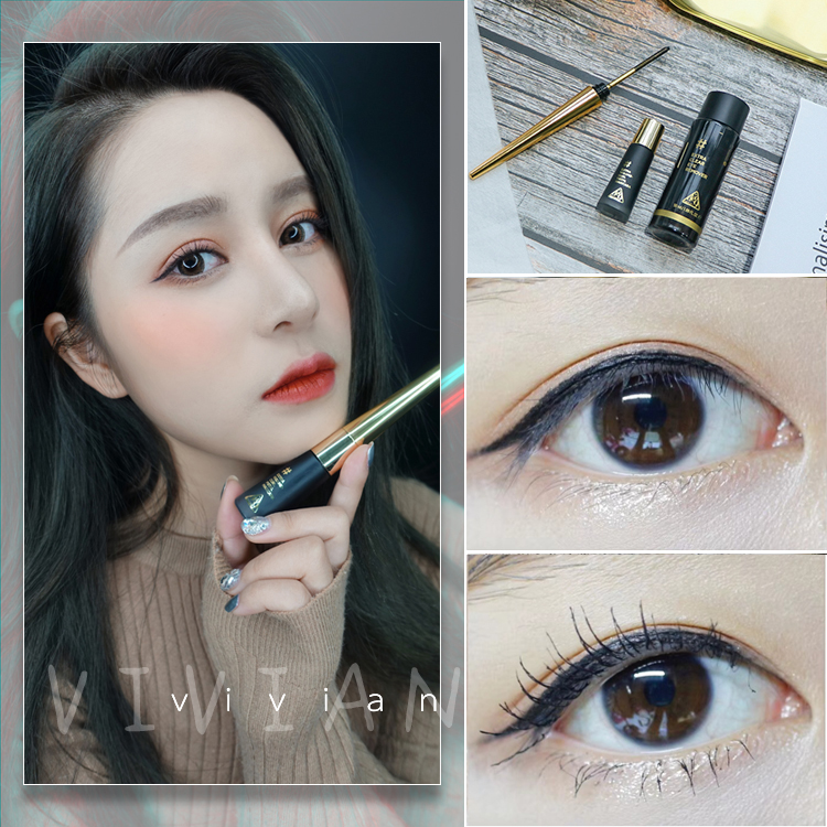 Mascara black technology 33 hours does not collapse neogen sense of Science and technology Curling mascara Guard mascara liquid makeup remover