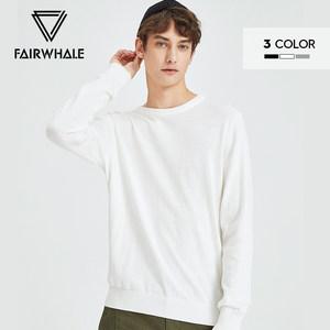 马克华菲男士毛衣男舒适慵懒风红毛潮流韩版ins纯色打底衫男
