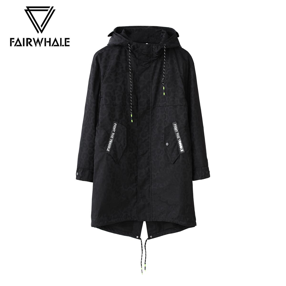 Z mall có cùng dấu hiệu Huafei cotton nam mùa thu trùm đầu in áo khoác cotton dài - Trang phục Couple