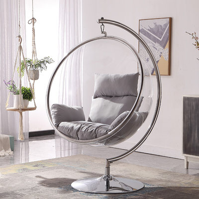 Nordic Wheel Net Red Glass Ball Transparent Bubble Chair Hemisphere Chair Space Chair Acrylic Basket Tessual Heart Room