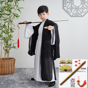 Children Hanfu for boy swordsman warrior cosplay robes Chinese traditional culture performance costume Chinese style primary school student performance Costume
