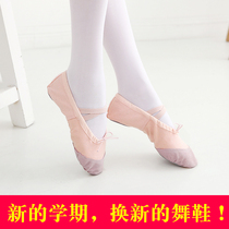 Adult young children Dance shoes women soft Bottom practice shoes girl red white