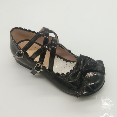 taobao agent Spring and autumn lolita shoes, spring shoes, princess shoes, tendon bottom, muffin bottom, low-heeled shallow mouth round-toe shoes, patent leather
