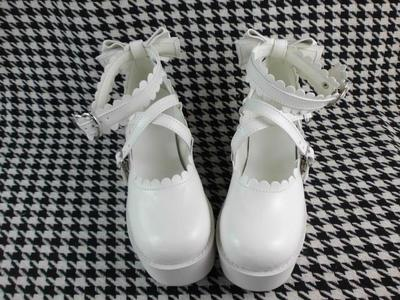 taobao agent Antaina platform shoes, thick-soled shoes, wood grain bottom, small flower lace-up shoes, stage shoes x9603