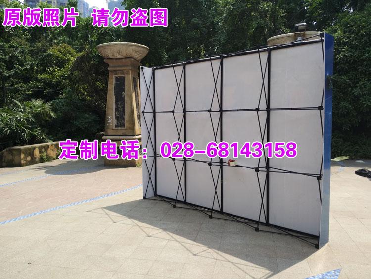 参展定制黑色铁制拉网直型拉网便携背景板会议墙展会特价背景墙