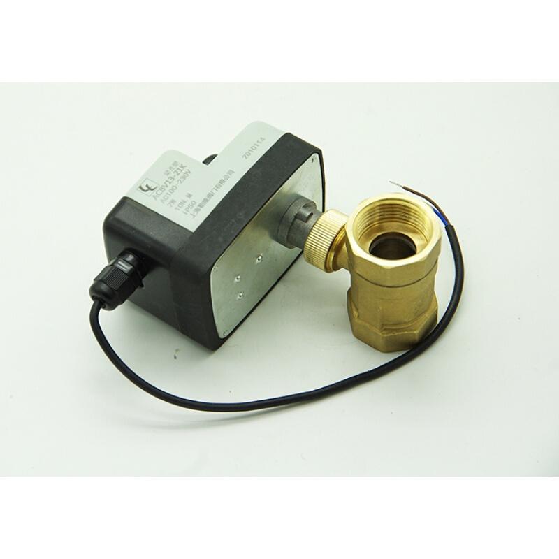 电磁球阀DC12V24VAC1220V两线常闭常开手一体二三通电阀DN15 220V