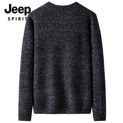 JEEP Jeep nam mới mùa thu và mùa đông cổ tròn Áo len Hàn Quốc nam thanh niên áo thun áo len - Cardigan