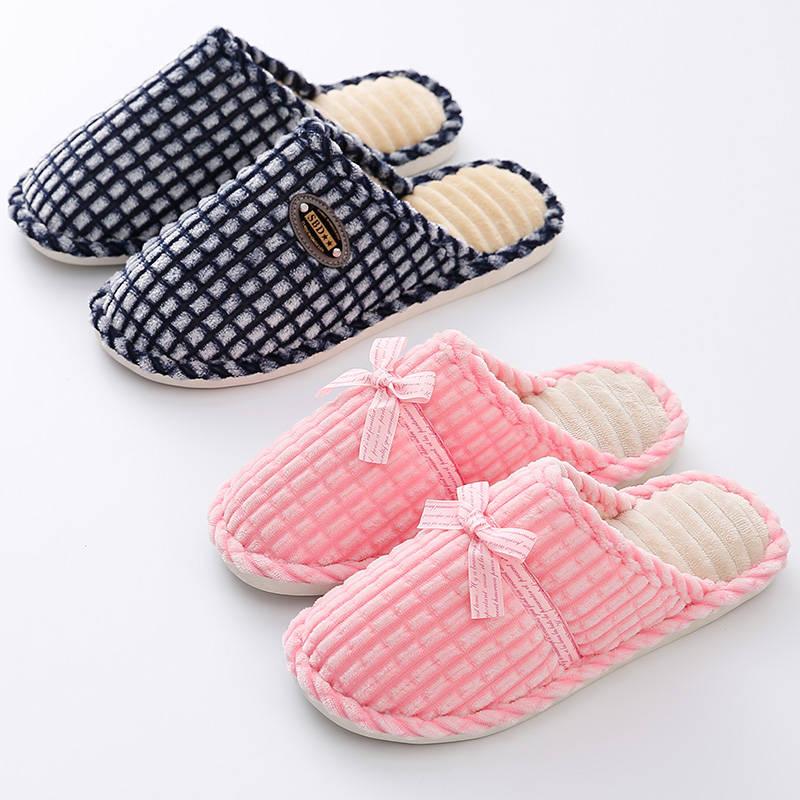 棉拖鞋女士包跟居家用保暖鞋可外穿2019新款家居毛毛棉鞋女秋冬季