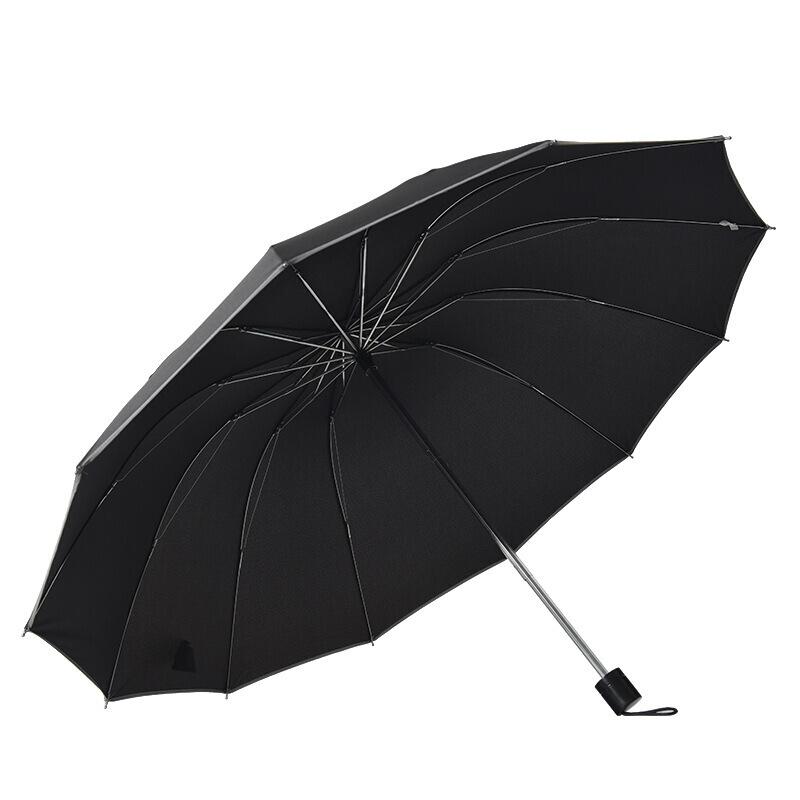 超7大雨伞四人折防风雨伞折伞超大抗加大特大号四人三3人户外加