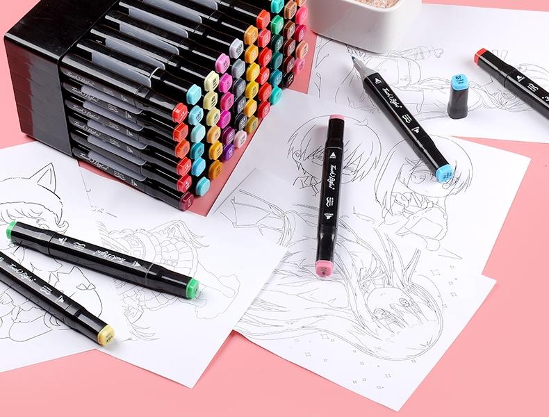 中國代購|中國批發-ibuy99|马克笔套装touch48色全套双头美术生专用正版1000色小学生绘画彩