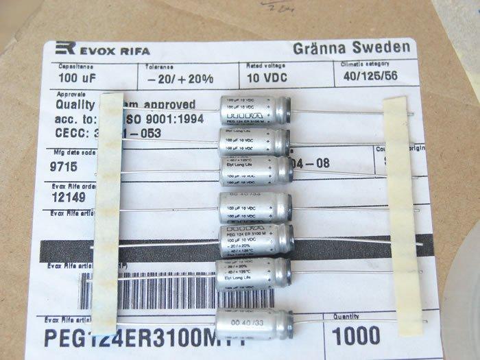 原装拆机瑞典 RIFA PEG124系 25v 47uf 滤波电解电容