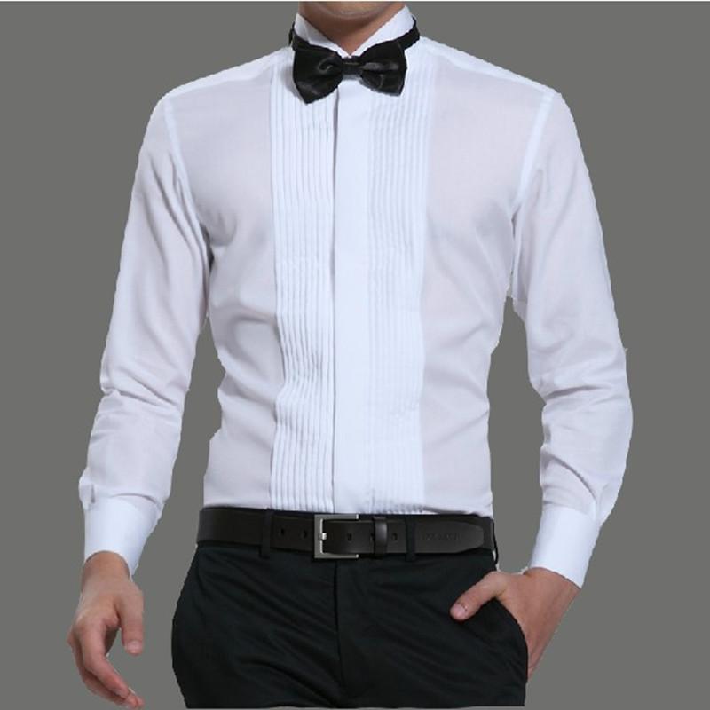 Chú rể Swallow Tie áo sơ mi áo sơ mi nam dài tay buổi tối buổi ...