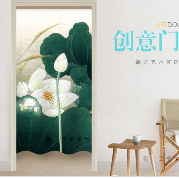 Занавеска дверная Bai Хэси творческий живопись шаблон занавес мягкой перегородки любой печати