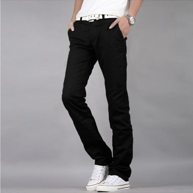 Men's pants new spring and autumn loaded cotton autumn and winter straight jeans Korean version of the tide casual pants men's trousers
