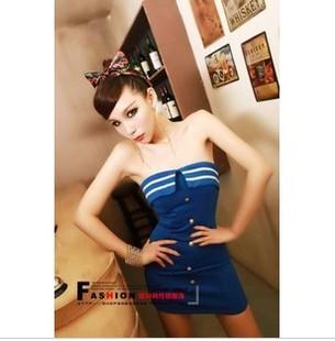 Женская одежда Сексуальная бар девочек Клуб танцев джаз ночнушке флота форму DS новый полицейский кнопки Показать костюм