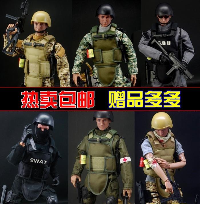 1/6 полиция солдат военный куклы солдат модель с аксессуарами одежда оружие ребенок подарок мальчик игрушка