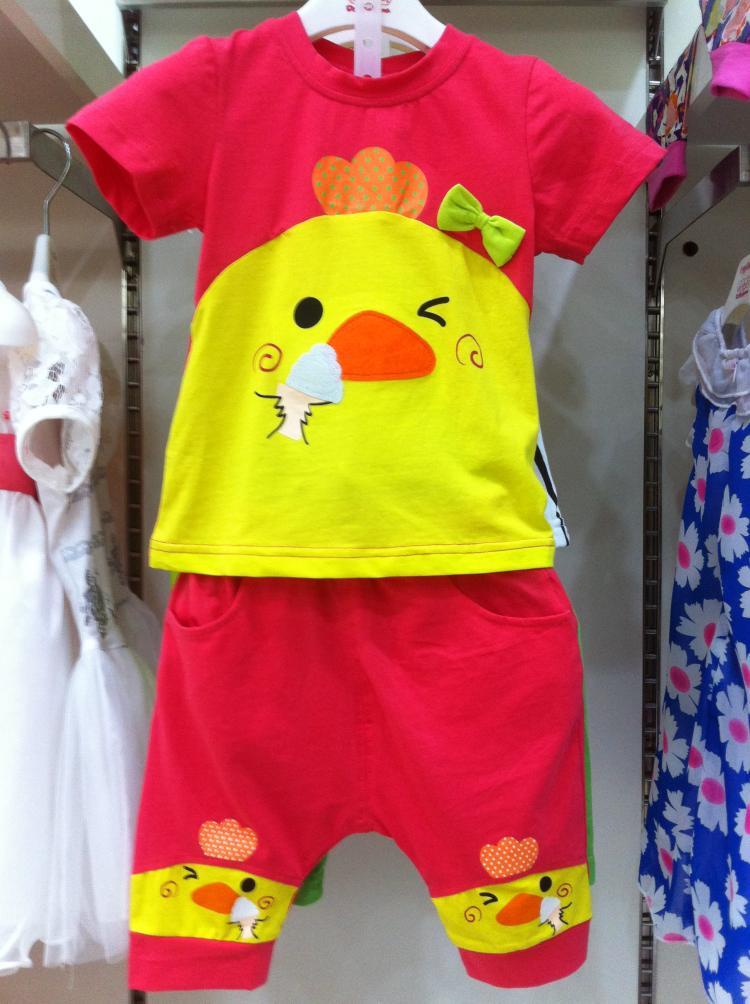 小狗巴纳2016童装夏装夏款男童儿童英文可爱 短袖弹力T恤165212