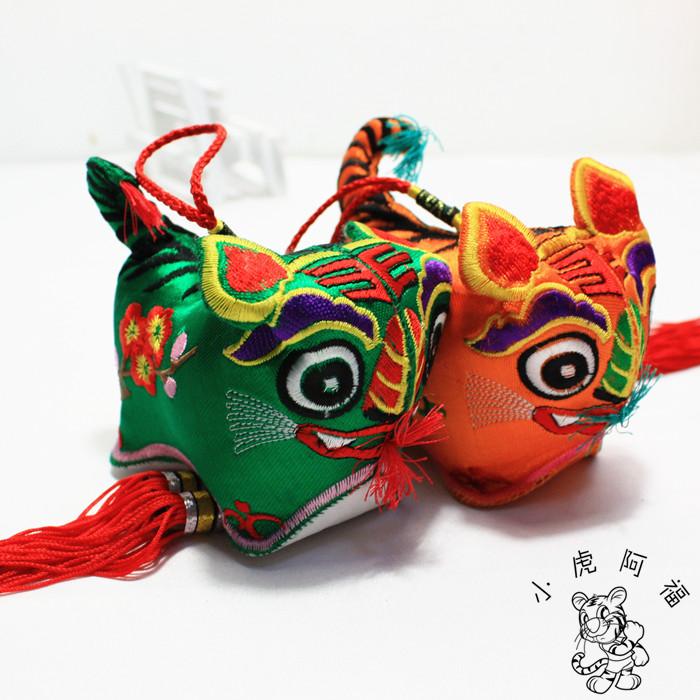 Китайский ветер вышивка подарок куст тигр люди между ремесла статья тигр король кулон вышитый тигр кулон
