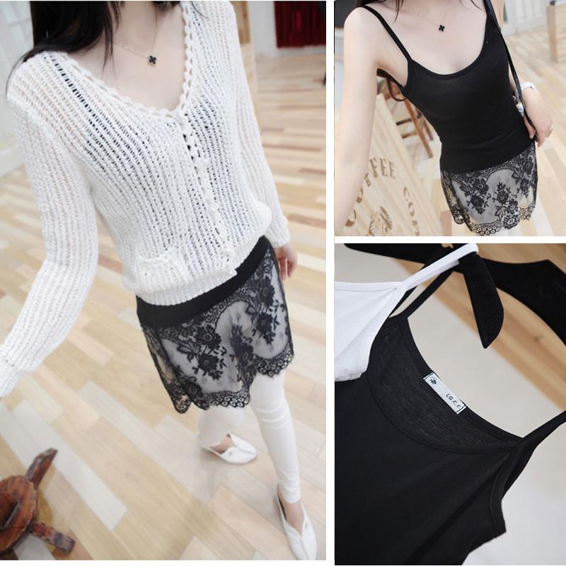 时尚中艺6606 韩版高档蕾丝中袖中长款气质修身女打底衫专柜正品