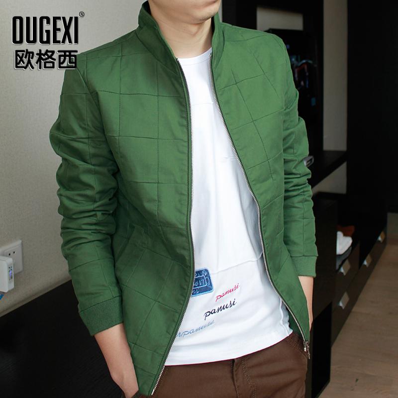 2016春季男士休闲韩版薄款外套夹克男款青年男装棒球服修身茄克衫
