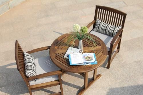 Ngoài trời đồ gỗ vững chắc bàn ghế giải trí bàn ghế Taiyang bàn ghế nội thất sân vườn bàn ghế gỗ rắn