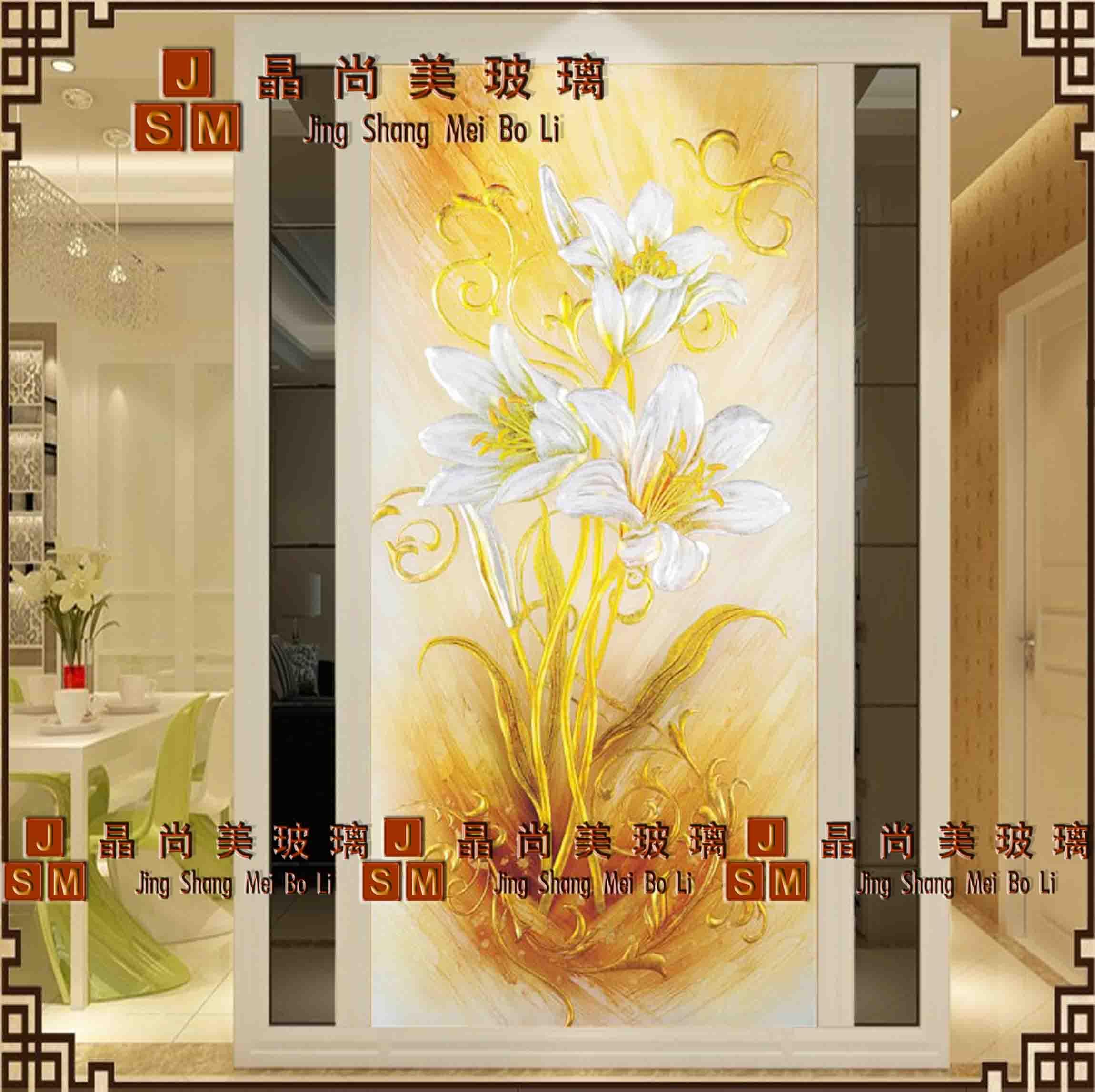 USD 195.54] Shanghai art glass European simple baskage background ...